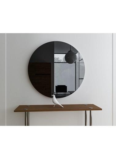 Chic Life Chic Life Altair Füme Dekoratif Oval - Yuvarlak Ayna 70 cm x 70 cm Füme